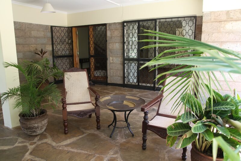 The Red Hill Cottage Verandah - Furnished Apartments in Nairobi