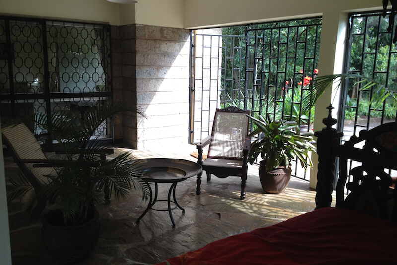 The Red Hill Cottage Courtyard - Furnished Apartments in Nairobi