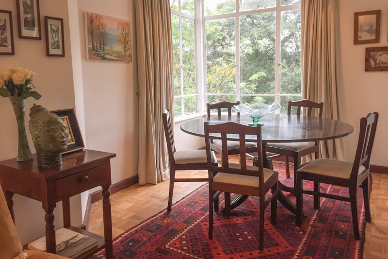 The Sanctuary Dining Room - Furnished Apartments in Nairobi