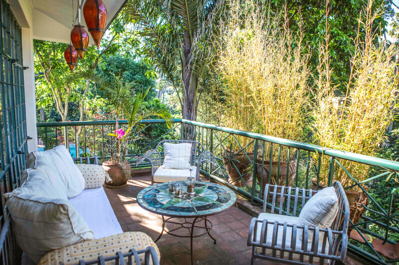 Forest House Balcony - Furnished Apartments in Nairobi