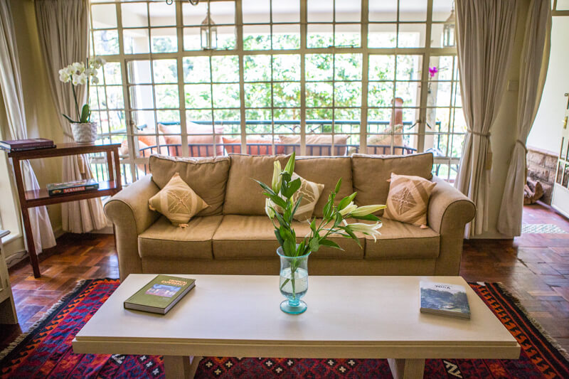 Garden Cottage Living Room - Furnished Apartments in Nairobi