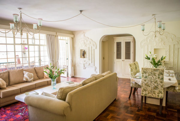 Garden Cottage Living and Dining Room - Furnished Apartments in Nairobi