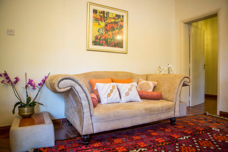 Pool House Living Room - Furnished Apartments in Nairobi