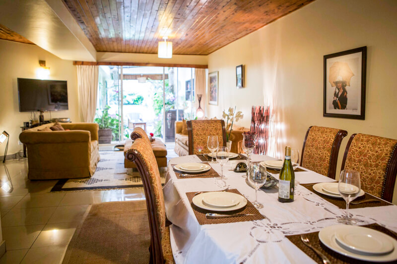 State House Courtyards Dining and Living Room - Furnished Apartments in Nairobi